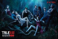 Thank you HBO for dropping this big image of the official True Blood Season 3 poster into my mailbox. See True Blood Season 3 cast group photo. Serie True Blood, Ryan Kwanten, Louisiana, Joe Manganiello, Glee, Vampire Diaries, True Blood Season 3, Bad Things, Random Things