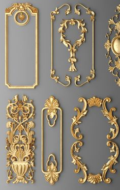 frame cartouches set 3d model