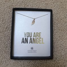 "NWT Dogeared Wing Necklace NWT Dogeared wing necklace. ""You are an angel"". 18"". Sterling silver. Handcrafted in the USA. Perfect for a Pi beta phi sister! Dogeared Jewelry Necklaces"