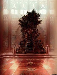 Voilà à quoi ressemble le monde de Westeros selon G.R.R Martin : The iron throne