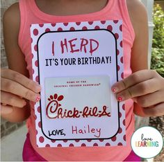 This Chick fil A gift card holder makes the perfect birthday gift for a teacher, friend, or coworker