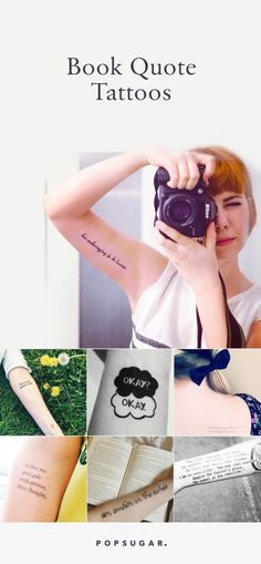 Book quote tattoo ideas for every book worm out there!