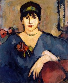 John Duncan Fergusson: The Blue Dress, 1908 Art Gallery, Impressionist Art, John Duncan, Art, Figurative Artwork, Scottish Art, Portrait Gallery, John, Scottish Colourists
