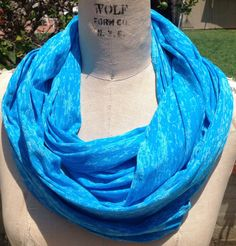 Turquoise blue infinity scarf by DeZeStar on Etsy