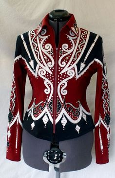 showmanship jacket | Showmanship Jacket Rail Jacket Paradise Creations | eBay Western Show Shirts, Western Show Clothes, Rodeo Shirts, Horse Show Clothes, Cowboy Outfits, Equestrian Outfits, Western Outfits, Western Wear, Western Riding