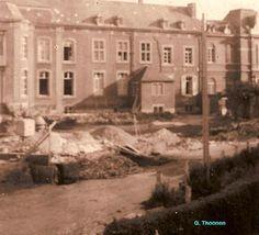 Bouw van de meisjesschool in 1955.