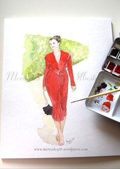 Copyright Mercedes JTB Illustrations, do not forget to follow also in instagram (Mercedes JTB Illustrations) and Twitter (@mercedesjtb) or via my blog www.mercedesjtb.wordpress.com #fashionillustration #illustration #happy #feliz #Madrid #tourism #turismo #spain #style