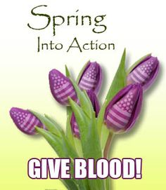 Spring into Action this Spring...and donate blood!