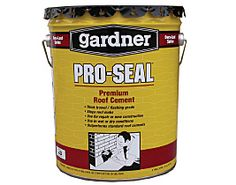 Gardner PRO-SEAL Premium Roof Cement is a high performance product that is designed for new construction or roof repairs. This versatile product can be used on vertical surfaces, without sagging.