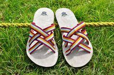 """WAYUU SANDALS US11.5-12/EUR45/UK11-11.5. Typical Wayuu Indian footwear called """"Wayrenas."""" www.colombiart.co"""