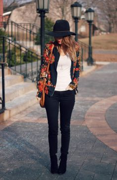 Oh So Glam: Floral Bomber