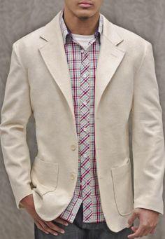R.A.G. Linen Blazer Natural - R.A.G. New York Clothing