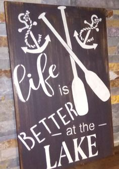 FREE Shipping/ Life Is BETTER At The LAKE/Nautical /Cottage/Camp/Beach /Cottage Housewarming/Hostess Gift/Mother's/Father's Day Gift Idea