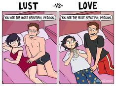 The Difference Between Lust And Long-Time Love, As Told In Comics | HuffPost Life