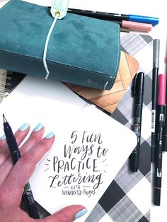 Lauren Fitzmaurice of @renmadecalligraphy shows you 5 fun ways to practice lettering using products from Tombow USA and Webster's Pages.