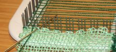 So I did sit down and weave a square in the corner. It actually went better than any went before which can be seen by the end of this post. Sohere goes. I am assuming that you have read the last t…