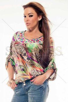 MissQ Happy Colours Brown Blouse