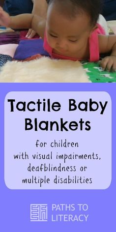 Tactile baby blankets for children with visual impairments, deafblindness or multiple disabilities Baby Sensory, Sensory Activities, Infant Activities, Learning Activities, Activities For Kids, Sensory Play, Sensory Rooms, Multiple Disabilities, Learning Disabilities