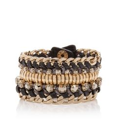 Henri Bendel makes these amazing bangles and bracelets that fit perfectly with a standout watch.