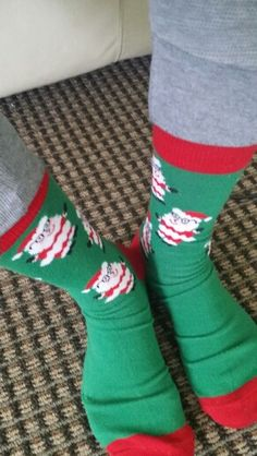 So I thought they were snowman socks lol from the sock club