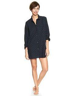 Printed flannel nightshirt from Gap
