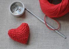 crocheted heart by ksrose