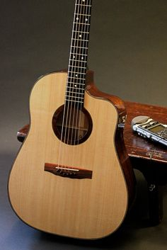 Spanish cedar handcrafted acoustic guitar with LRBaggs pickup, Lichty Guitars