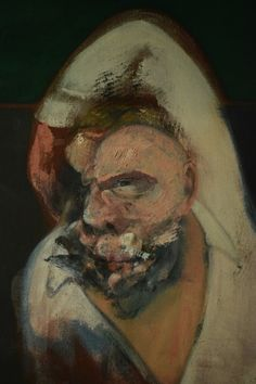 FRANCIS BACON- The head of the figure of 'Reclining Man with Sculpture', 1960-61 Tehran Museum of Contemporary Art.