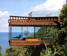 The Architecture of Harry Weese: Chicago modernist: Shadowcliff,Ellison Bay Wisconsin 1968-69