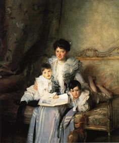John Singer Sargent - Portrait of Mrs. Knowles and her Children