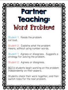 You have word problems?