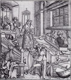 "16th Century - Will Kimbal.l A biography of Maximilian includes a woodcut by Hans Burgkmair, captioned ""How the young Weisskunig learned to know music and string playing."""