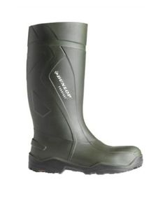 Dunlop Purofort Plus Full Safety Standard in Green   The Dunlop Purofort Plus Full Safety Standard welly is a lightweight but warm polyurethane Wellington with excellent foot protection.      Lightweight     Polyurethane     Oil resistant     Complies with ISO20345 Safety Standards     Toe Protection to 200 Joules Impact     Penetration Resistant Midsole to 1100 Newtons     Antistatic and Energy Absorbing Heel