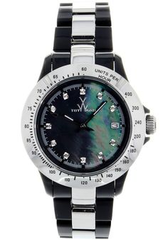 Price:$130.50 #watches ToyWatch HM10BKSL, Stainless steel case, Plastic Bracelet, Mother of Pearl dial, Quartz movement, Scratch-resistant mineral, Water resistant up to 5 ATM - 50 meters - 165 feet