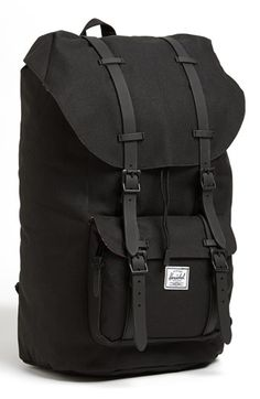 Free shipping and returns on Herschel Supply Co. 'Little America' Backpack at Nordstrom.com. Padded mesh pods pair with cushy, body-contouring adjustable shoulder straps on a roomy backpack built for comfort in a classic mountaineering style. An exterior shaped from synthetic canvas and a triple-lined main compartment add durability and enhanced weather protection, while a small interior media pocket and padded, fleece-lined laptop sleeve keep electronics safe and secure while on the go.