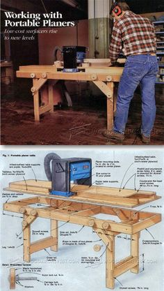Portable Planer Table Plans - Planer Tips, Jigs and Fixtures | WoodArchivist.com