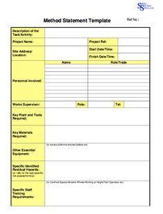 Method-Statement-Template | Professional Designs | Statement