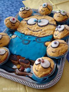 Ideen für Geburtstagsparty   Minion Party   Spielideen   Basteln   Deko   Kindergeburtstag   Feiern mit Kindern   Minions   Minion Kuchen und Muffins   Gelbkariert Blog