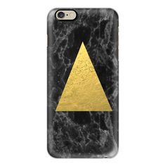 iPhone 6 Plus/6/5/5s/5c Case - Marble Tri black and gold foil cell... ($40) ❤ liked on Polyvore featuring accessories, tech accessories, iphone case, iphone cell phone cases, iphone cover case, apple iphone cases and glitter iphone case