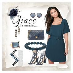 """""""Simple Grace"""" by paige-brrian ❤ liked on Polyvore featuring Boohoo, Matthew Williamson, Kenneth Jay Lane, Elizabeth Cole, Sydney Evan and Schutz"""