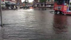 Noodweer in Nederland: Rijssen, Huttenwal, Hogepad, Haarstraat: Plein 19...