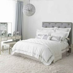 White and silver sparkles!  Duvet cover by Kylie Minogue - yes, THAT Kylie Minogue