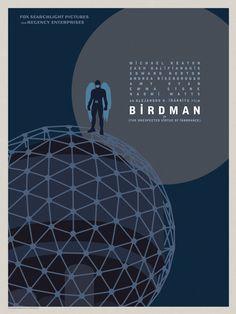 """Birdman"" Goes Coast To Coast In Gorgeous Posters For Alejandro González Iñárritu's Genre-Defying New Film Minimal Movie Posters, Film Posters, Film Big, Comic Book Superheroes, Film Images, Michael Keaton, Sea To Shining Sea, Internet Movies, Alternative Movie Posters"