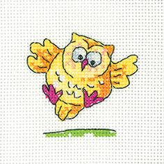 Flying Owl(GSFO1342) New cross stitch card kit designed by Karen Carter for Heritage Crafts. The design uses full cross stitches only so may be suitable for beginners depending on their ability. Could be stitched for a variety of occasions - just write your message inside the card provided. Contents: 14 count aida fabric, cotton threads, chart, needle, full instructions, card and an envelope. Design size: 6.5cm x 6cm *Please allow upto 7 working days for dispatch...
