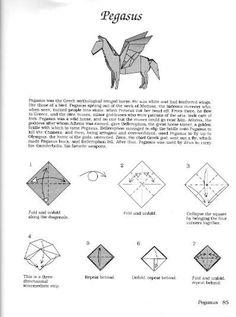 Diagram cara membuat origami pegasus how to make origami pegasus