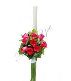 Lumanari nunta trandafiri roz Candles, Candy, Candle Sticks, Candle
