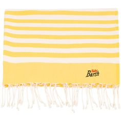 Mc2 Saint Barth striped beach towel (16 OMR) ❤ liked on Polyvore featuring home, bed & bath, bath, beach towels, stripe beach towel, striped beach towels and cotton beach towels