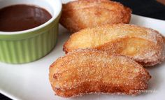 Churros recept Churros, French Toast, Muffin, Breakfast, Google, Food, Morning Coffee, Eten, Cupcakes