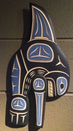 """Original Orca Haida Carving"". This is a lovely hand carved and painted Haida Orca. Great looking carving! We are authorized dealers with almost every publisher in N. America and know we can list world class artists at remarkable prices! 
