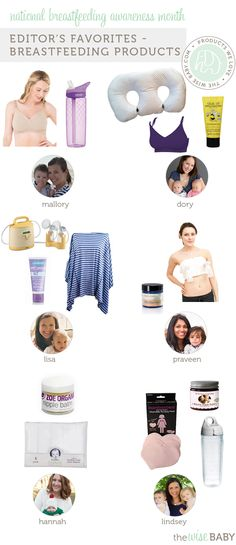 6 ladies who've breastfed pick our favorite breast-feeding products! Editor Favorites - Breastfeeding Products